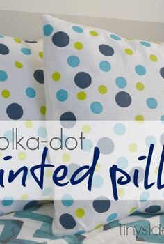 easy polka dot painted pillows, bedroom ideas, crafts, home decor, painting