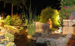 moonlight pond tour showcases custom water gardens amp landscape lighting in, outdoor living, ponds water features, Custom Water Gardens Landscape Lighting aren t the only things that will inspire you on this night