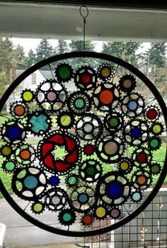 this artist from portland oregon uses reuse to create his art from bicycle, crafts, repurposing upcycling, This is reuse art from a local Portland artist he creates art from reusing bicycle parts His name is Viello Gioelli