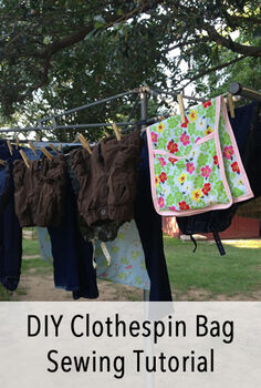 diy clothespin bag tutorial, crafts, 1 package of bias tape a colorful handkerchief and some thread
