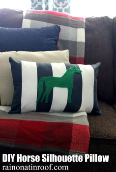 diy horse silhouette pillow, crafts