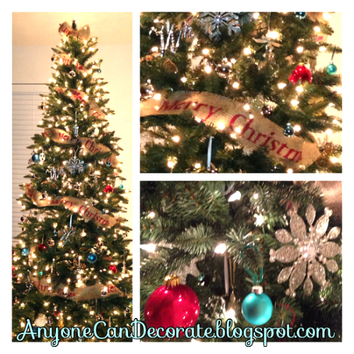 Diy Burlap Christmas Tree Garland Decorations Crafts Seasonal Holiday Decor