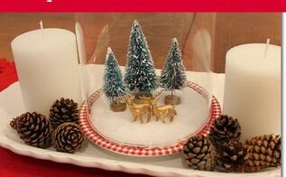 diy snow globe with epsom salt and bottle brush trees, crafts, seasonal holiday decor, DIY snow globe with Epsom salt and bottle brush trees