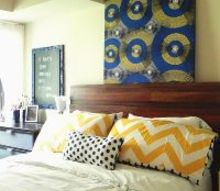 dumpster diving for a headboard, bedroom ideas, home decor, repurposing upcycling, AFTER The Guest Room finally feels finished with the addition of our dumpster find headboard