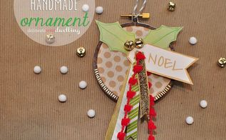 how to make an embroidery hoop ornament, crafts, seasonal holiday decor, Finished Ornament