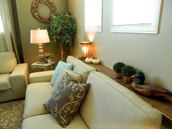 diy sofa shelf easiest solution for a common problem. Black Bedroom Furniture Sets. Home Design Ideas