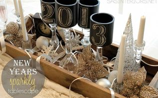 new years sparkly tablescape, chalk paint, chalkboard paint, crafts, seasonal holiday decor