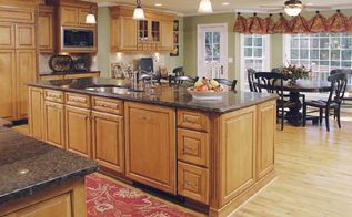 boring kitchen gets an upscale renovation with family in mind, electrical, home improvement, kitchen backsplash, kitchen design, kitchen island, You can eat breakfast or a quick dinner at the island and still have tons of space for prep work