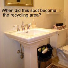 bathroom re do, bathroom ideas, home decor, painted furniture, repurposing upcycling