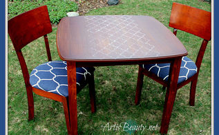 nautical table and chairs makeover and anniversary, outdoor furniture, painted furniture