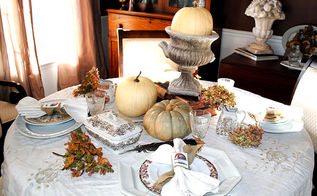 my table is all set for thanksgiving, seasonal holiday d cor, thanksgiving decorations, My Thanksgiving Table
