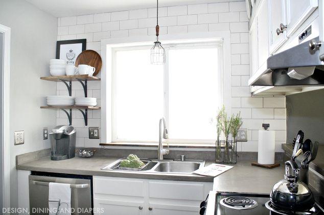 Small Kitchen Makeover Home Improvement Kitchen Backsplash Kitchen Cabinets Kitchen Design