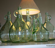turning thrift store wine bottles into lamps, lighting, repurposing upcycling, A simple lamp kit transforms these beautiful bottles into a lamps