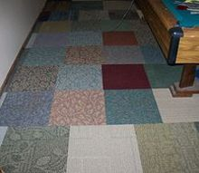 carpet squares in basement, basement ideas, flooring, home decor