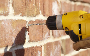 properly drilling into brick, concrete masonry, home maintenance repairs, tools, Drilling into mortar is safer and more easily repairable if you make a mistake