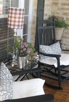 spring front porch, outdoor living, porches
