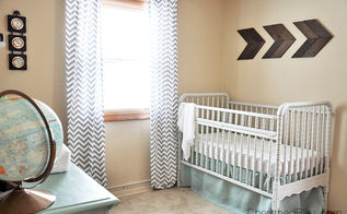 vintage travel themed nursery, bedroom ideas, home decor, repurposing upcycling, My favorite part of the rooms is by far the wooden arrows I have a tutorial for those too