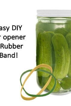 rubber bands make great jar openers, cleaning tips