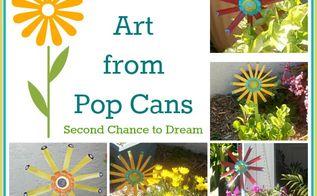 garden art from pop cans, crafts, flowers, gardening, Garden Art from pop cans
