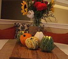 a simple autumn breakfast table, seasonal holiday decor, Fall Breakfast Table Decor