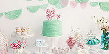 how to create the perfect candy buffet, home decor, Mint Pink Candy Buffet