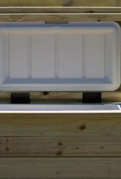 custom built wood coolers, diy, outdoor furniture, painted furniture, woodworking projects