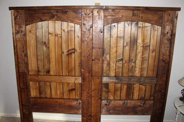 how to build a rustic barn door headboard hometalk. Black Bedroom Furniture Sets. Home Design Ideas