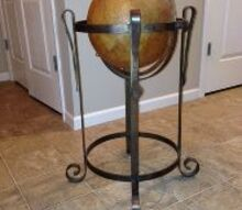 what shall we do with this old globe readers, diy, painted furniture, repurposing upcycling, Old globe what can she become