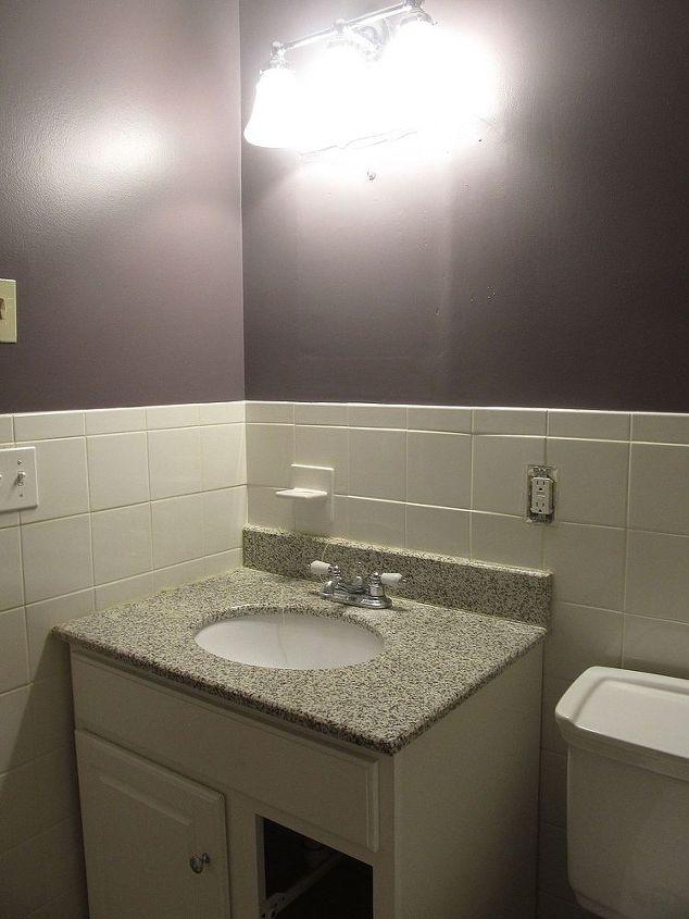 Beadboard bathroom re do  bathroom ideas  wall decor  The Before shot with  tileBeadboard Bathroom Re do   Hometalk. Re Doing Bathroom Walls. Home Design Ideas