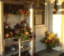 christmas on our front porch, flowers, gardening, outdoor living, porches
