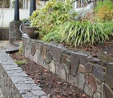 lake front stone walls, concrete masonry, outdoor living