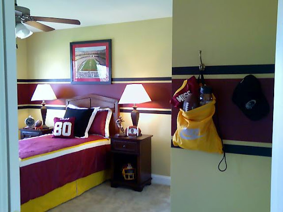 Redskins Painted Rooms