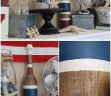 american beach summer mantle, home decor, living room ideas