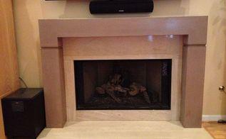 concrete fireplace surround, fireplaces mantels, home decor, Concrete fireplace mantel surround by Burco