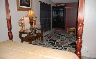 diy bedroom flooring using granite scraps what a wonderful addition and change, flooring