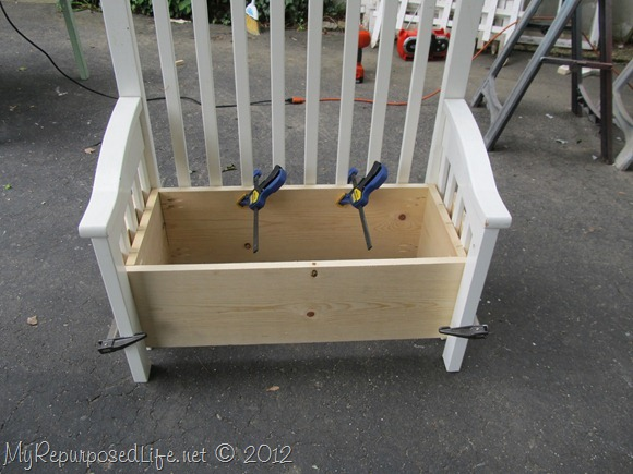 Upcycled Repurposed Crib Into Toy Box Bench Hometalk