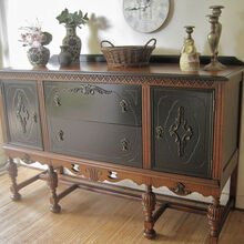 antique sideboard no 2 what s your preference, painted furniture, The After Photo