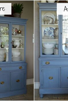 adding furniture legs to a china hutch, chalk paint, painted furniture