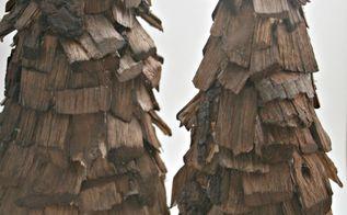 wood chip tree natural christmas decor, christmas decorations, crafts, seasonal holiday decor, wood chip trees
