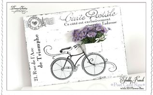 shabby french postcard sign with a 3d flower box, crafts
