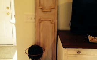 look turn a door into a faux french shutter, doors, home decor, repurposing upcycling