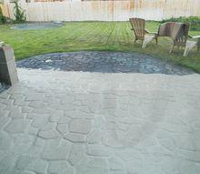 concrete cobblestone pad, concrete masonry, diy, outdoor living, patio