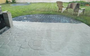 concrete cobblestone pad, concrete masonry, diy, outdoor living, patio