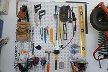 inexpensive garage organization, garages, organizing, Pegboard organization