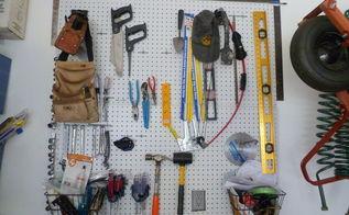 inexpensive garage organization, garages, organizing, Pegboard organization