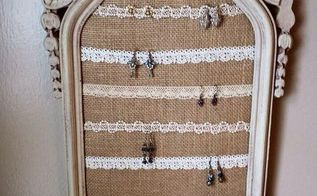 old ornate frame gets a new life as a elegant earring display, cleaning tips, repurposing upcycling