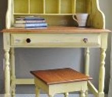a shabby happy desk, painted furniture