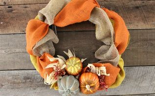 Making My Fall Burlap Wreath A Christmas Burlap Wreath