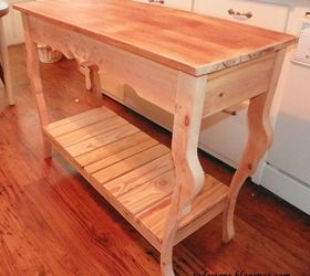 A sofahall table made from re-cycled wood  Hometalk