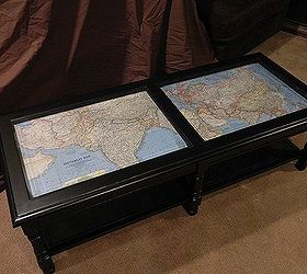 Coffee Table Makeover with Antique MapsHometalk